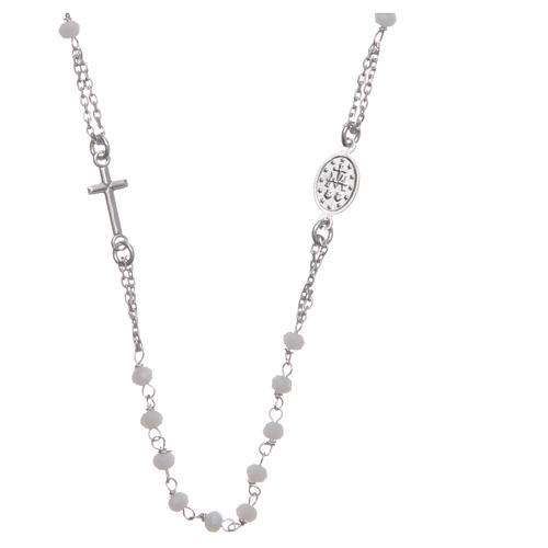 Classic rosary choker white in 925 sterling silver 2
