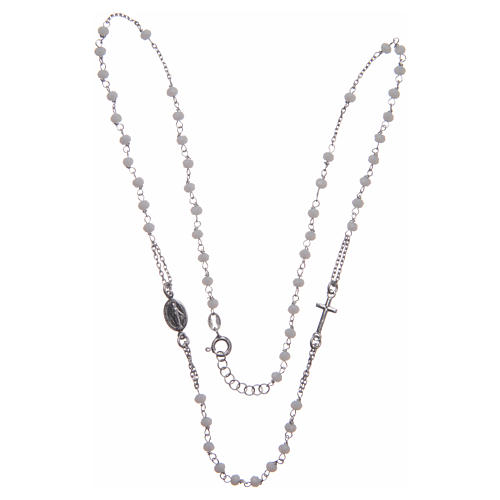 Classic rosary choker white in 925 sterling silver 3