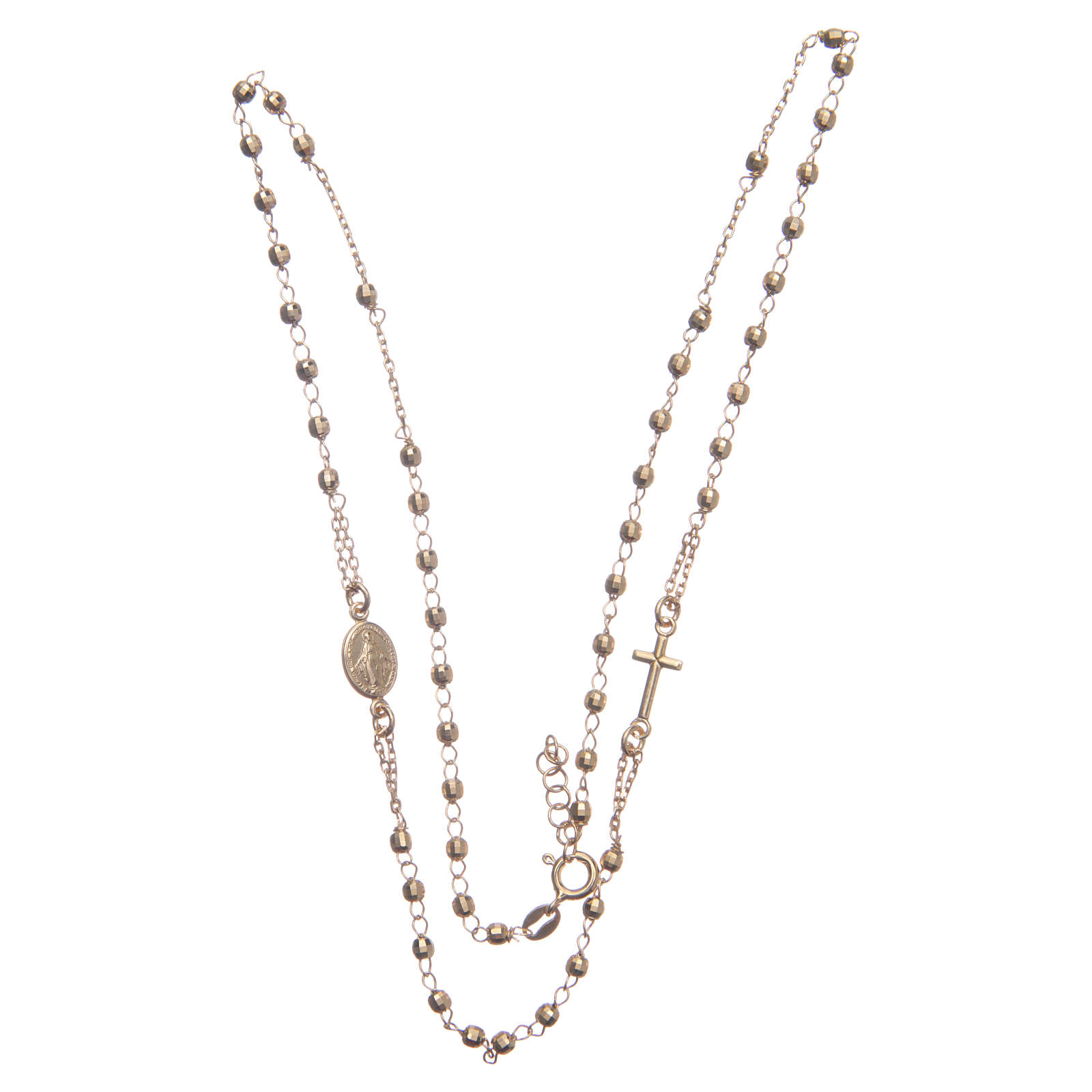 Classic rosary choker gold colour in 925 sterling silver 4
