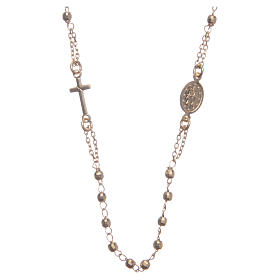 Classic rosary choker gold colour in 925 sterling silver s2