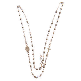 Classic rosary choker gold colour in 925 sterling silver s3