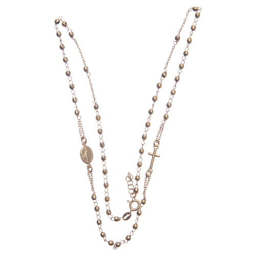 Classic rosary choker gold colour in 925 sterling silver 3