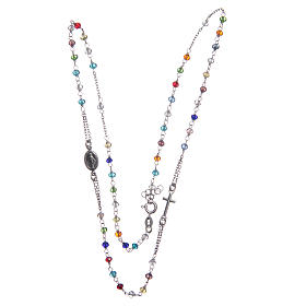 Classic rosary choker multicoloured 925 sterling silver s3