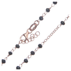 Rosario classico colore rosé nero argento 925 s4