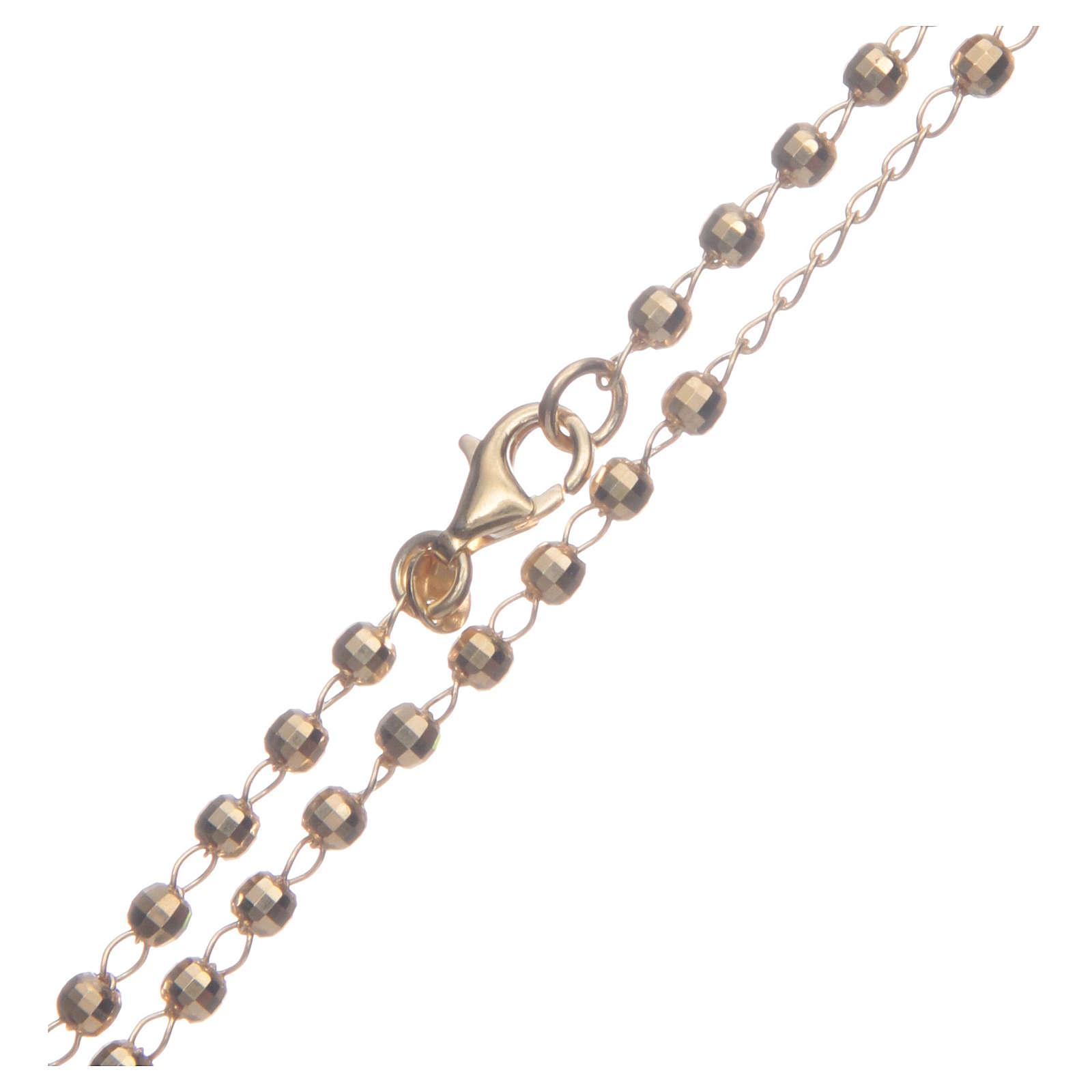 Rosario classico colore dorato argento 925 4