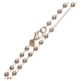 Rosario classico colore dorato argento 925 s4