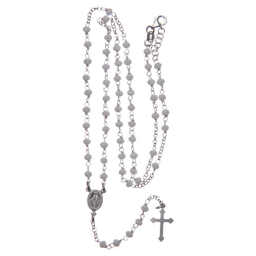 Classic rosary white in 925 sterling silver 4
