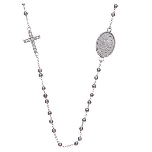 Rosario girocollo silver zirconi bianchi argento 925 2