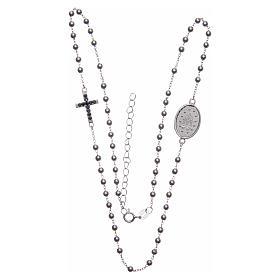 Rosario girocollo silver zirconi neri argento 925 s3