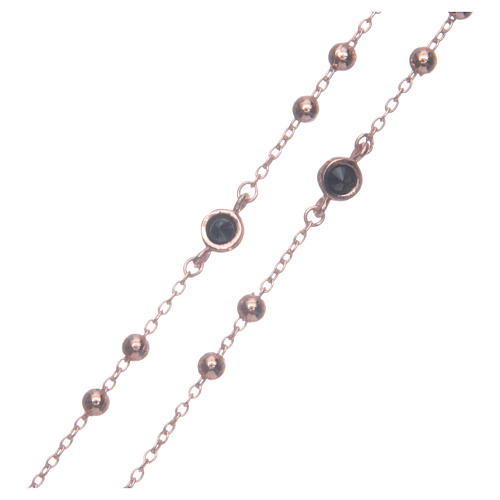 Classic rosary rosè with black zircons 925 sterling silver 3