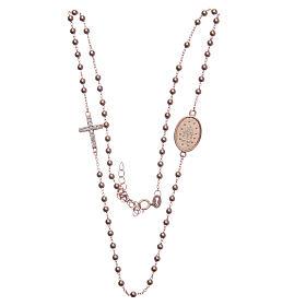 Rosario girocollo rosé zirconi bianchi argento 925 s3