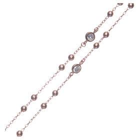 Rosario classico rosé zirconi bianchi argento 925 s3