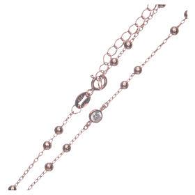 Rosario classico rosé zirconi bianchi argento 925 s4