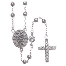 Rosario classico Santa Rita silver zirconi bianchi argento 925 s2