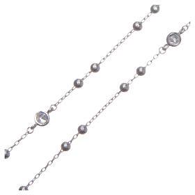 Rosario classico Santa Rita silver zirconi bianchi argento 925 s3