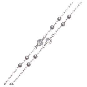 Rosario classico Santa Rita silver zirconi bianchi argento 925 s4