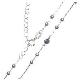 Rosario classico Santa Rita silver zirconi neri argento 925 s4