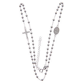 Rosario girocollo Santa Rita silver zirconi bianchi argento 925 s3