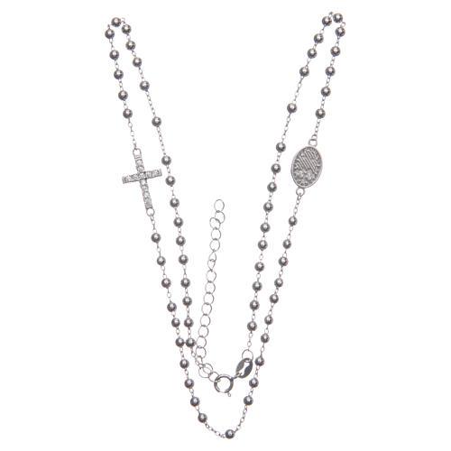 Rosario girocollo Santa Rita silver zirconi bianchi argento 925 3