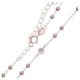 Rosario classico rosé Santa Rita zirconi bianchi argento 925 s4