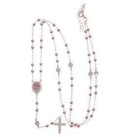 Rosario classico rosé Santa Rita zirconi bianchi argento 925 s5