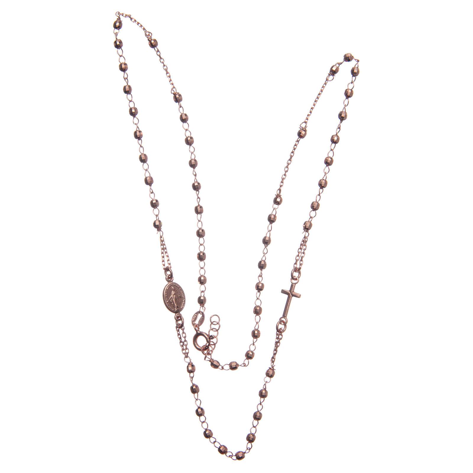 Rosary choker Saint Rita classic model rosè in 925 sterling silver 4