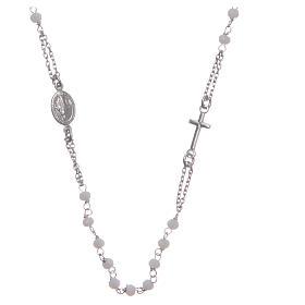 Rosario girocollo colore bianco Santa Rita argento 925 s1