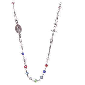 Rosary choker multicoloured Saint Rita classic model gold in 925 sterling silver s2