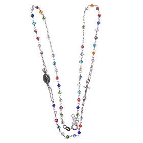 Rosary choker multicoloured Saint Rita classic model gold in 925 sterling silver s3