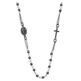 Rosario gargantilla negro gris Santa Rita plata 925 s1