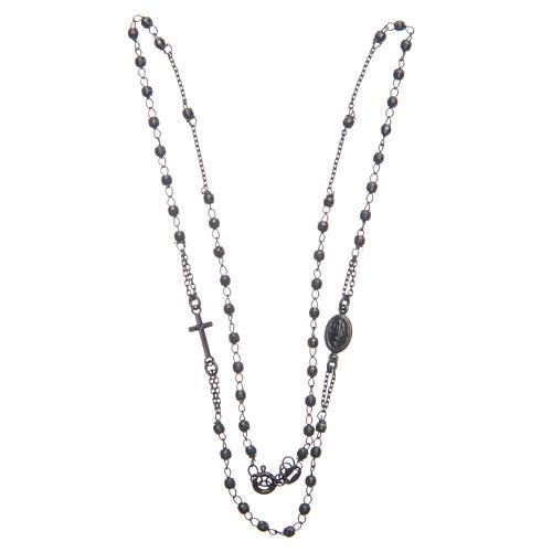 Rosario gargantilla negro gris Santa Rita plata 925 3