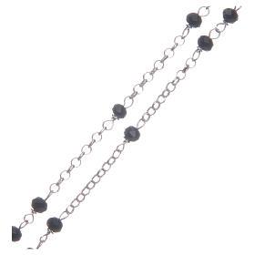 Rosario classico girocollo Santa Rita nero argento 925 s3