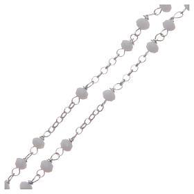Rosario classico girocollo Santa Rita bianco argento 925 s3