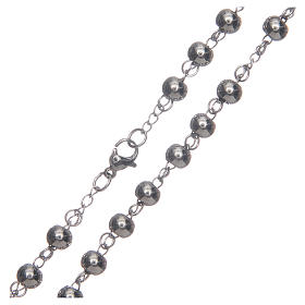 Classic rosary silver with big sphere 316L steel s4