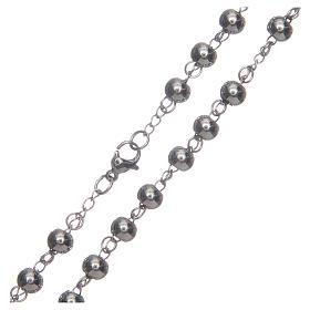 Rosario classico color silver sfera grande acciaio 316L s4
