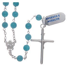 Rosario argento 925 e angelite mm 9 s2