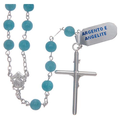 Rosario argento 925 e angelite mm 9 2