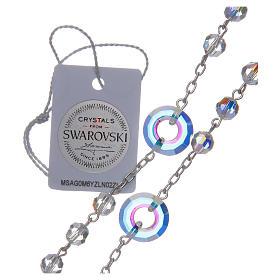 Rosario argento 925 Swarovski trasparenti mm 6 e pater cerchietto s5