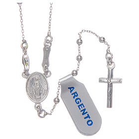 Silver rosary beads: Rosary with 925 sterling silver chain