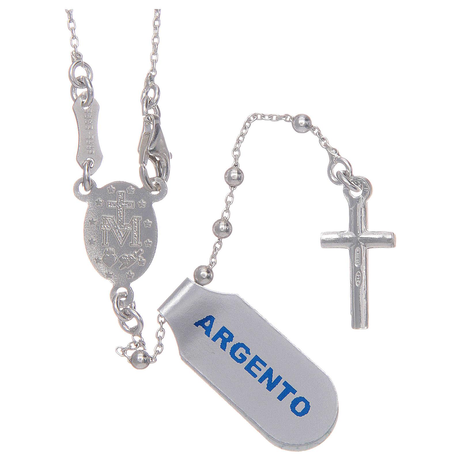 Rosario argento 925 a catena 4