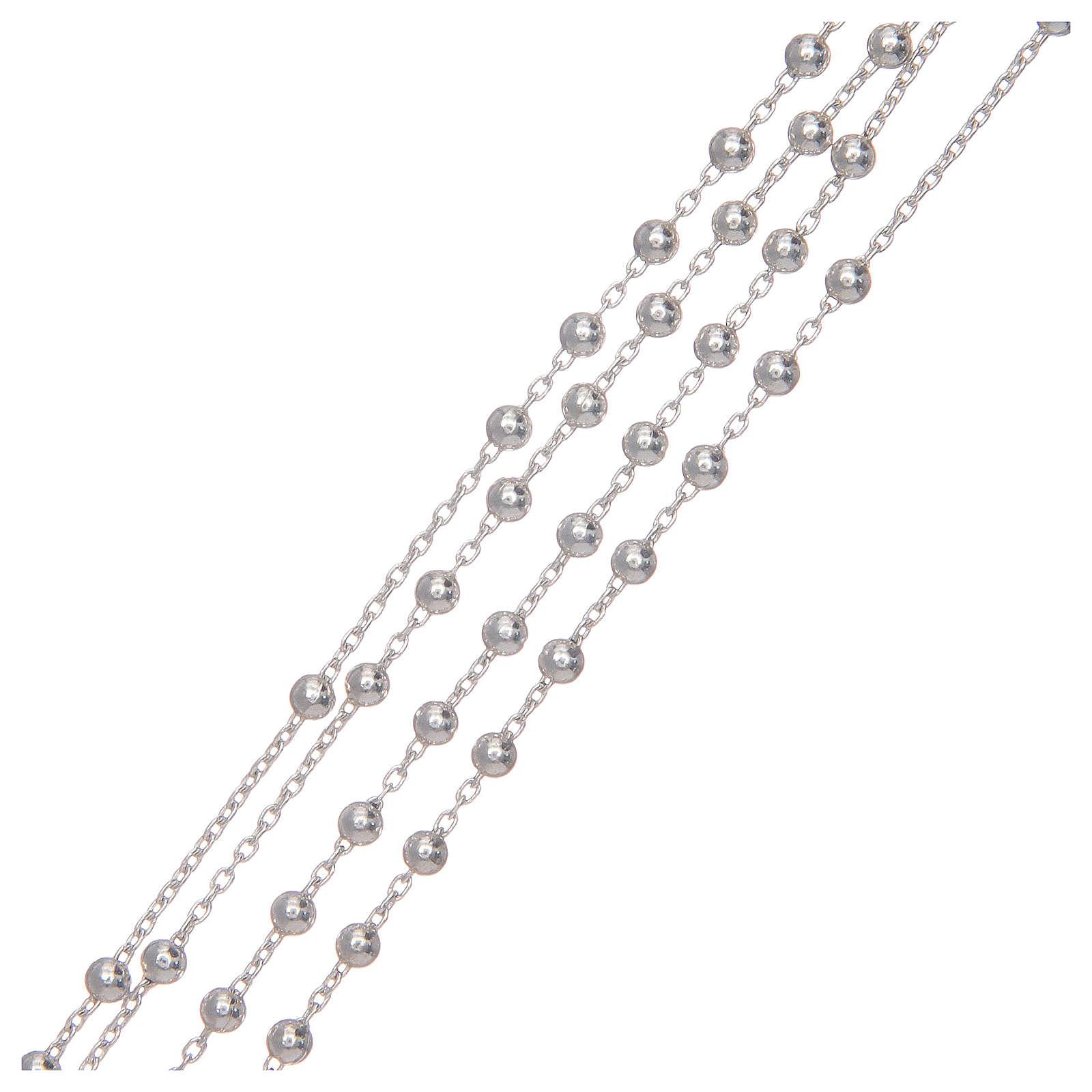 Różaniec srebro 925 na łańcuszku 4