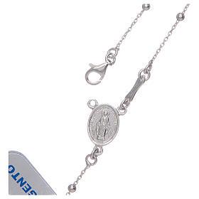 Różaniec srebro 925 na łańcuszku s4
