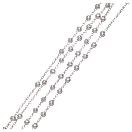 Różaniec srebro 925 na łańcuszku 3