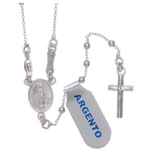 Rosary with 925 sterling silver chain 1