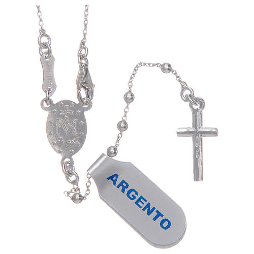 Rosary with 925 sterling silver chain 2