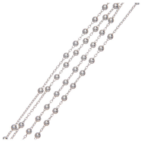 Rosary with 925 sterling silver chain 3