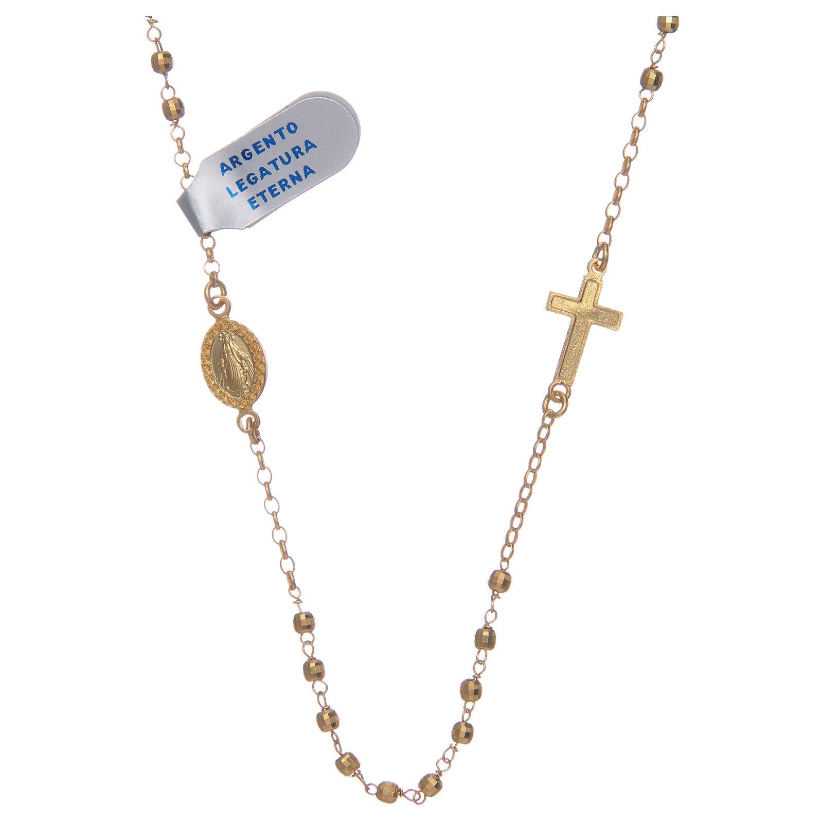 Rosario gargantilla plata lúcido 925 dorado 4