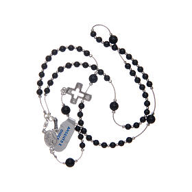 Rosary in 925 sterling silver and onyx s4