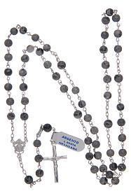 Rosario de ágata mexicana de plata 925 s4