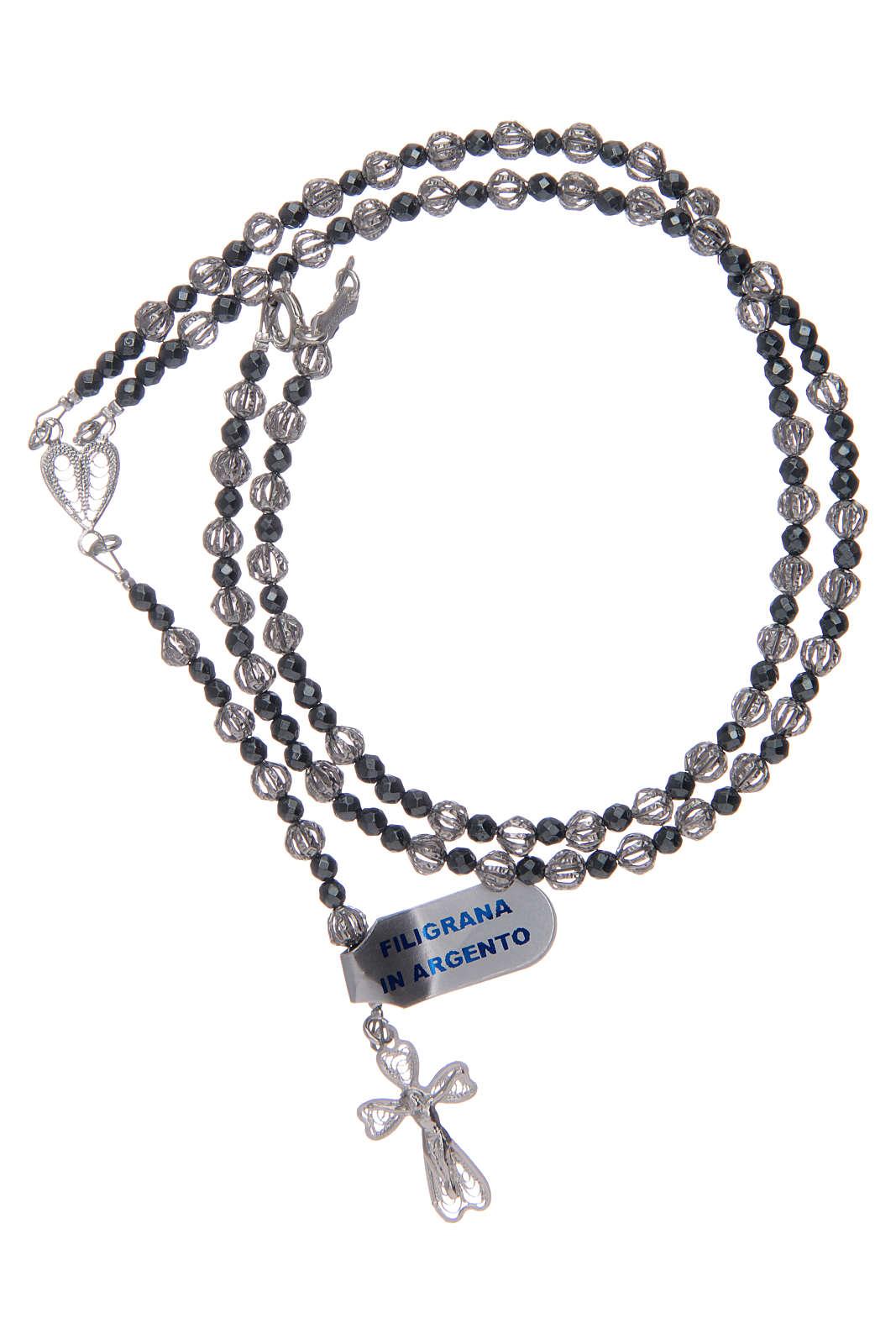 Rosario con filigrana in argento 800 4